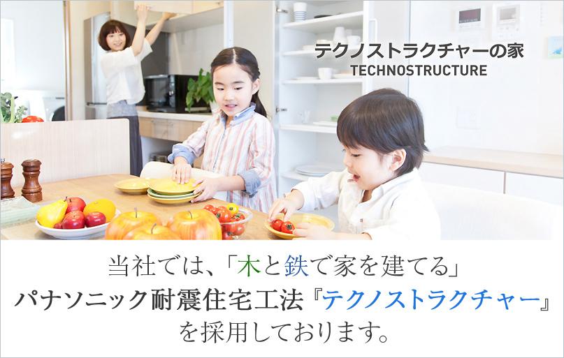 パナソニック耐震住宅工法『テクノストラクチャー』